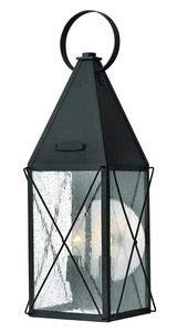 Hinkley 1844BK Traditional Two Light Wall Mount from York collection in Blackfinish,