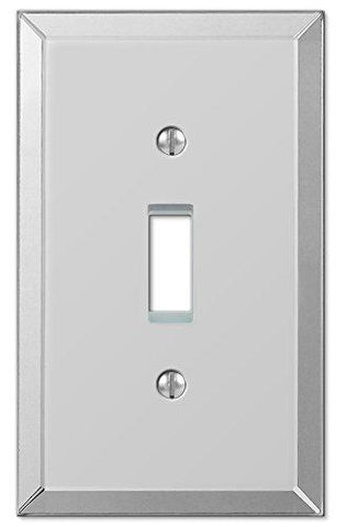 Amerelle Mirror Single Toggle Wallplate in Mirror Finish - llightsdaddy - Leviton - Wall Plates