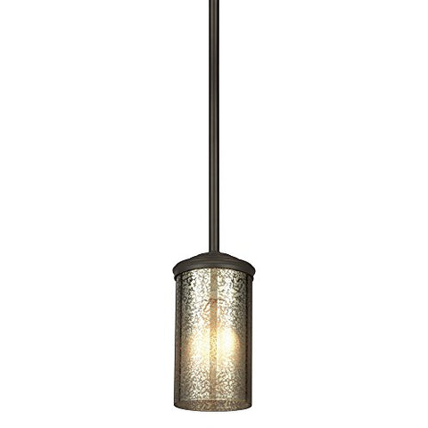 Sea Gull Lighting 6110401-715 Sfera One-Light Mini-Pendant with Mercury Glass, Autumn Bronze Finish