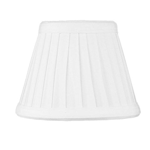 3x5x4 Down White Pleated Clip-on Candelabra Pleat Lampshade By Home Concept - Perfect for chandeliers, foyer lights, and wall sconces -Small, White - llightsdaddy - HomeConcept - Lamp Shades