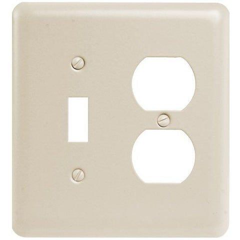 Amerelle Devon Single Toggle/Single Duplex Steel Wallpate in Almond - llightsdaddy - AMERELLE - Wall Plates