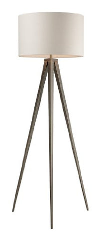 Dimond D2121 20-Inch Width by 61-Inch Height Salford Floor Lamp in Satin Nickel with Off-White Linen Shade and Pure White Fabric Liner - llightsdaddy - Dimond Lighting - Lamp Shades