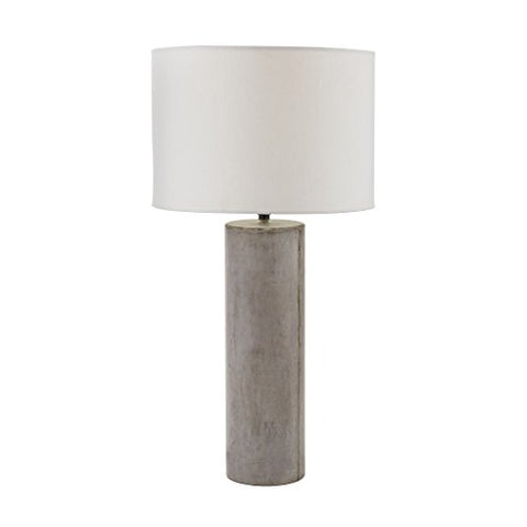 Dimond Home 157-013 Elk Lighting Cubix Round Desk Lamp in Natural Concrete, Grey
