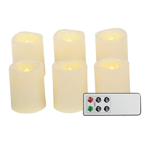 Battery Operated Powered Flameless LED Tea Lights with Remote Realistic Flickering Electric Fake Tealight Votive Candles for Home D├ęcor Party Wedding Decorations 6 Pack Long Lasting Batteries Included - llightsdaddy - Jingtech - Flameless Candles