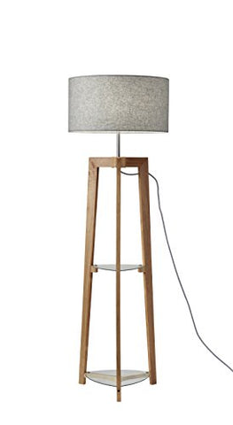 Adesso 3007-12 Henderson Shelf Floor Lamp, Natural Ash Wood