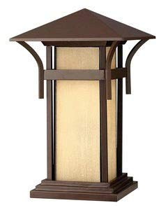 Hinkley 2576AR-LED Nautical One Light Pier Mount from Harbor collection in Bronze/Darkfinish,