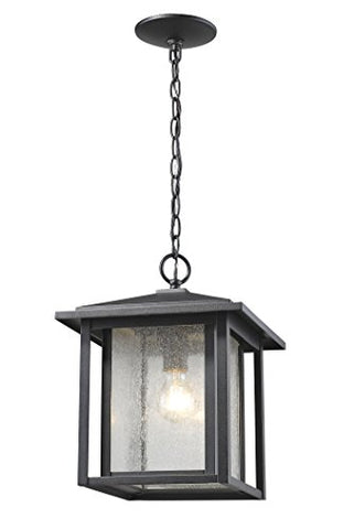 1 Light Outdoor 554CHB-BK - llightsdaddy - Z-Lite - Outdoor Porch & Patio Lights