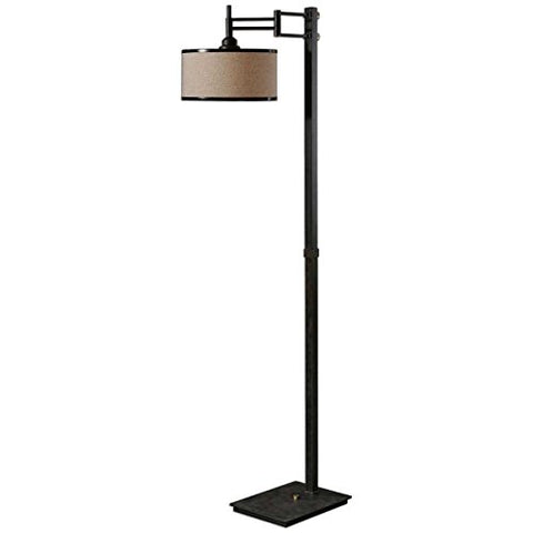 Uttermost 28587-1 Prescott Metal Floor Lamp - llightsdaddy - Uttermost - Lamp Shades