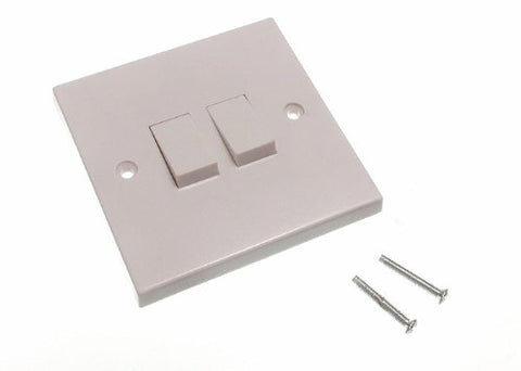 DOUBLE WALL LIGHT SWITCH 2 GANG 2 WAY ROCKER ( pack of 100 ) - llightsdaddy - ONESTOPDIY - Wall Plates