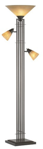 Metro Collection 3-in-1 Torchiere Floor Lamp - llightsdaddy - Franklin Iron Works - Lamps