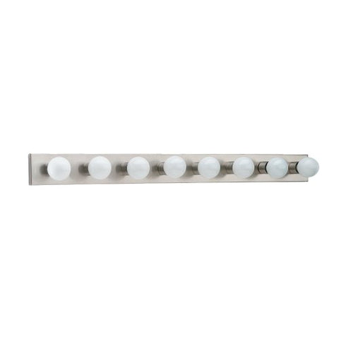 Sea Gull Lighting 4740-98 8-Light Bracket Bathroom Light, Brushed Stainless