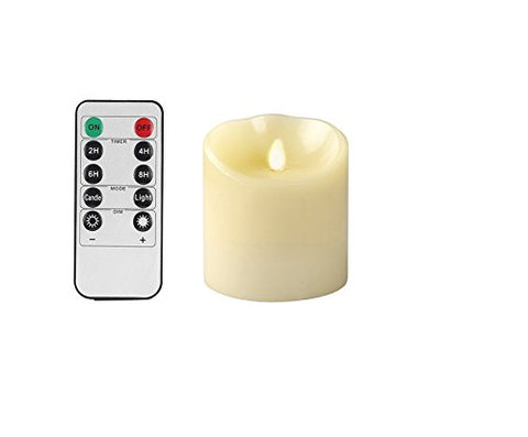 "OxoxO 3"" x 4"" Flameless Candles Sway Flicker Real Wax Pillar LED Candles Battery Operated and 10-Key Remote Control with 24-Hour Timer - llightsdaddy - OxoxO - Flameless Candles"