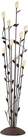 Arbor Twisted Vine 9-Light Rust Floor Lamp - llightsdaddy - Franklin Iron Works - Lamp Shades