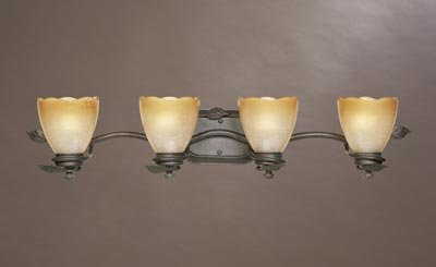 Designers Fountain 95604-OB Timberline 4-Light Bath Bar, Old Bronze - llightsdaddy - Designers Fountain - Vanity Lights