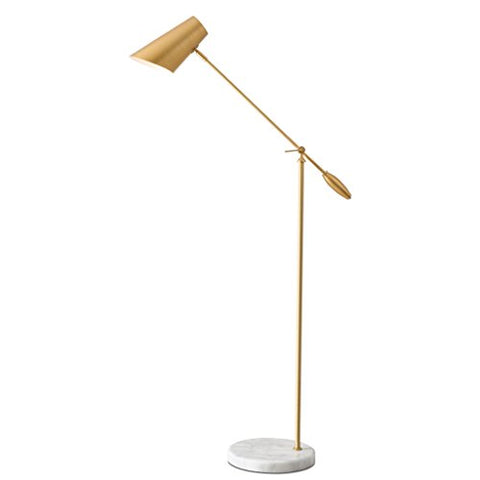 Postmodern Style Iron Lamp Body Hotel Art Floor Lamp, Adjustable Lamp Shade Home Bedroom Living Room Floor Light, Stable Round Marble Base Office Vertical Floor Lamp, E271 - llightsdaddy - ZWS floor lamp - Lamp Shades