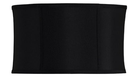 Cal Lighting SH-1251 10-Inch Side Drum Stretched Fabric Shade, Black - llightsdaddy - Cal - Lamp Shades
