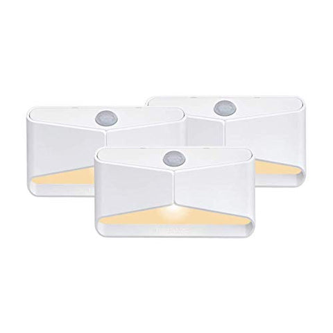 Mr Beams MB710A-WHT-03-00 Amber LED Night Light, White, 3 Each - llightsdaddy - Mr. Beams - Night Lights
