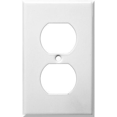 Morris 83212 Painted Steel Wall Plate, 1 Gang, White - llightsdaddy - Morris - Wall Plates