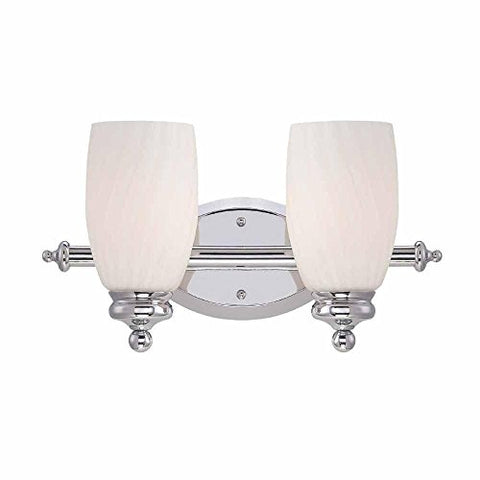 Newbell 2-Light Chrome Vanity Fixture