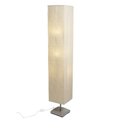 Floor Lamp with Rice Paper Shade Soft & Warm Glow Perfect for Living Room Bedroom Yoga Studio or Office Easy to Install Includes 3 E12 3W LED Bulbs - llightsdaddy - Fasthomegoods - Floor Lamps