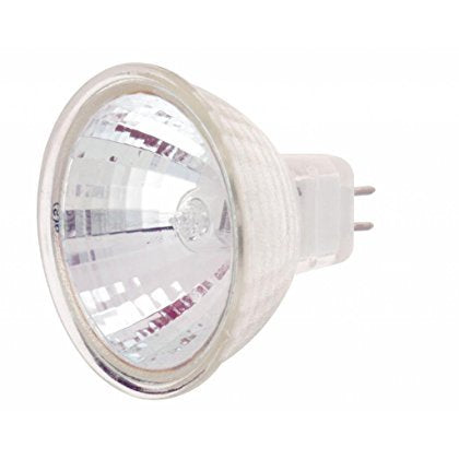 (12 Pack) Satco S1978 120V 50-Watt MR16 GX5.3 Base Light Bulb with FL 36 Beam Pattern with Lens