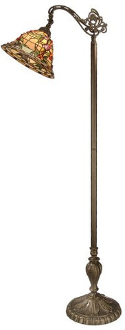 "Dale Tiffany TF50181 Bochner Downbridge Floor Lamp, 64"" x 22"" x 12"", Antique Brass - llightsdaddy - Dale Tiffany Lamps - Lamps"