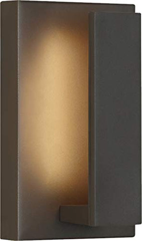 "Tech Lighting 700OWNTE9Z-LED930 Nate 9-9.1"" 6W 1 LED Outdoor Wall Lantern, Bronze Finish"