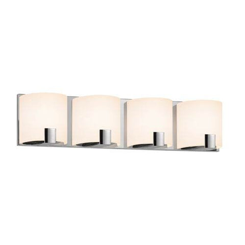 Sonneman Lighting C-Shell 4-Light Polished Chrome Vanity