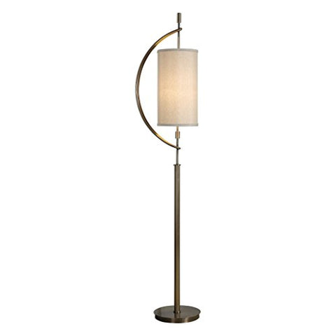 Brass Gold Suspended Shade Floor Lamp | Mid Century Modern Bow - llightsdaddy - My Swanky Home - Lamp Shades