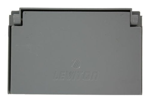 Leviton 6196-FS 1-Gang Decora/GFCI Device Wallplate, Weather-Resistant, Die-Cast Zinc, for Mounting on FS type box, Horizontal Self Closing Lid, Gray - llightsdaddy - Leviton - Wall Plates
