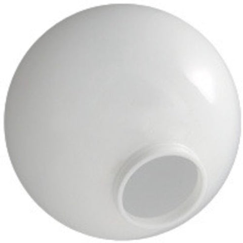 12 in. White Acrylic Globe - 4 in. Extruded Neck Opening - American PLAS-12NW4 - llightsdaddy - American Made Plastics - Fixture Replacement Globes & Shades