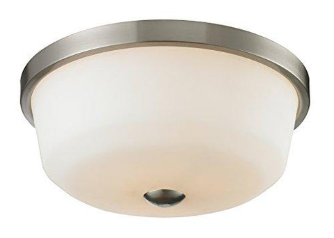 Z-Lite 410F3 3 Light Flush Mount, Brushed Nickel - llightsdaddy - Z-Lite - Under-Cabinet Lights