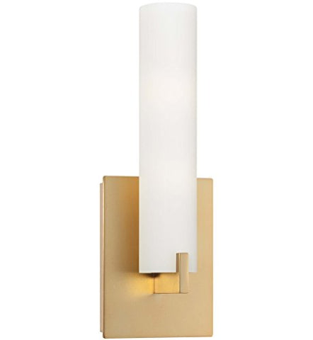 George Kovacs P5040-248-L Tube LED Wall Sconce, 12 Watt LED, Honey Gold