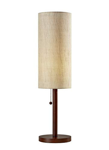 "Adesso 3337-15 Hamptons 31"" Table Lamp, Walnut, Smart Outlet Compatible"