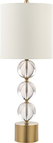 "Decorator's Lighting 15591 31""H Crystal Ball Table Lamp with Metal Base Luxury Lighting, Clear"