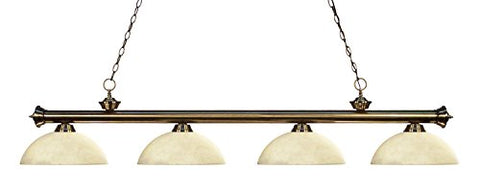 4 Light Billiard Light 200-4AB-DGM14 - llightsdaddy - Z-Lite - Billiard & Pool Table Lights