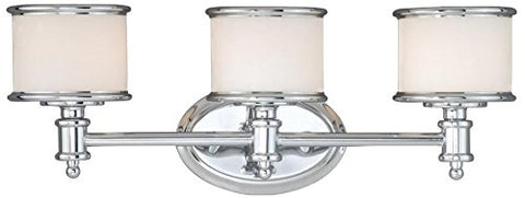 Vaxcel CR-VLU003CH Carlisle 3 Light Vanity Light, Chrome Finish - llightsdaddy - Vaxcel - Vanity Lights