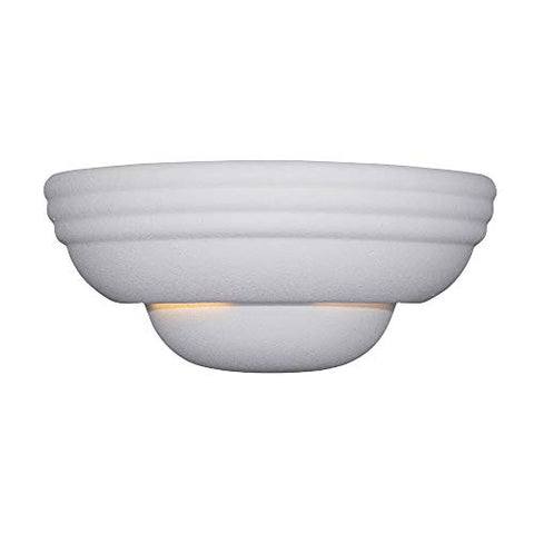 Designers Fountain 6030-WH Value Collection Wall Sconces, Paintable Ceramic