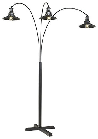 Signature Design by Ashley L725059 Metal Arc lamp, Black - llightsdaddy - Signature Design by Ashley - Outdoor Floor Lamps