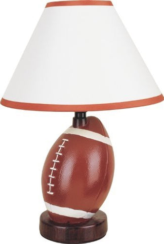 "S.H. International Ceramic Football Table Lamp 15.5""H"
