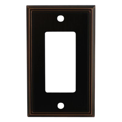 Cosmas 65000-ORB Oil Rubbed Bronze Single GFI/Decora Rocker Wall Switch Plate Switchplate Cover - llightsdaddy - Cosmas - Lamp Post Mounts