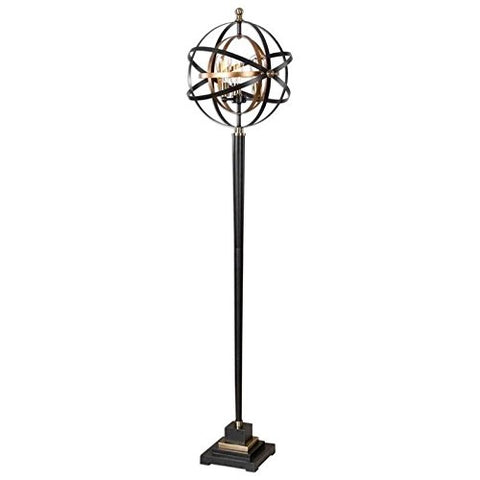 Uttermost Rondure Metal Armillary Sphere Floor Lamp - llightsdaddy - Uttermost - Lamp Shades