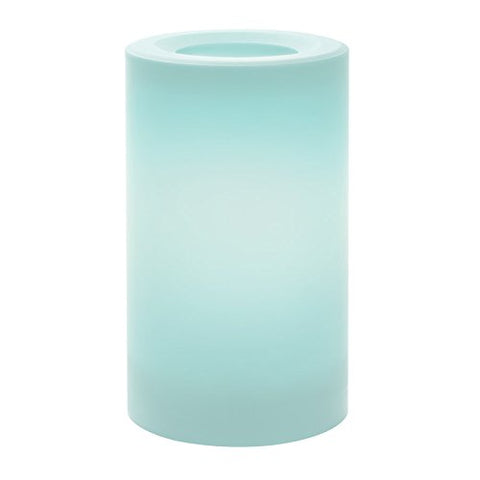 "Sterno Home Inglow Indoor/Outdoor Plastic Pillar Candle with 5-Hour Timer, Misty Blue, 3"" x 5"", - llightsdaddy - Northern International Inc - Flameless Candles"