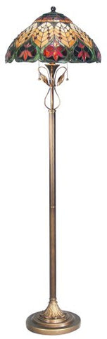 Dale Tiffany TF50012 Sir Henry Floor Lamp, Antique Brass