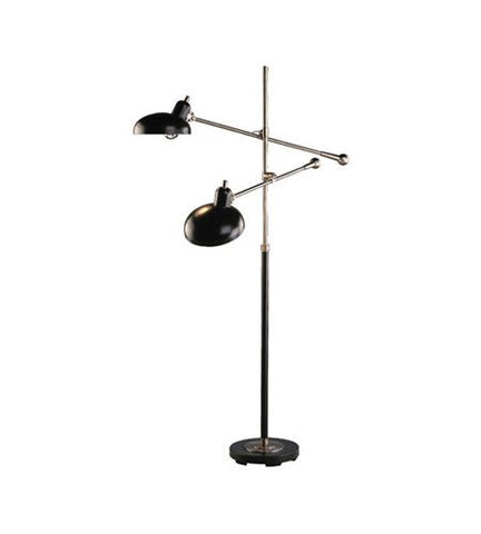 Robert Abbey 1848 Lamps with Lead Bronze Metal Shades, Lead Bronze/Ebonized Nickel Finish - llightsdaddy - Robert Abbey Lighting - Lamp Shades