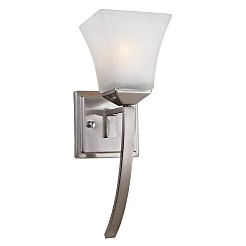 Design House 514786 Torino 1 Light Extended Wall Light, Satin Nickel