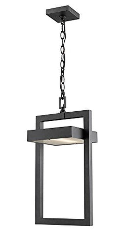 1 Light Outdoor Chain Mount Ceiling Fixture - 566CHB-BK-LED  Z-Lite Flush mounts llightsdaddy.myshopify.com lightsdaddy