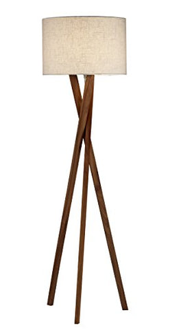 Adesso 3227-15 Brooklyn Floor Lamp - Contemporary Tripod Lamp, Smart Outlet Compatible, 63 in. Decor Light. Home Decor Lighting - llightsdaddy - Adesso - Lamps