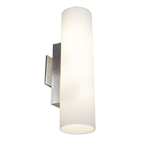 Tabo - Vanity - Brushed Steel Finish - Opal Glass Shade - llightsdaddy - Access Lighting - HI - Vanity Lights