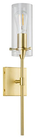 Effimero Wall Sconce Satin Brass Vanity Light Fixture LL-WL31-SB - llightsdaddy - Linea Di Liara - Vanity Lights